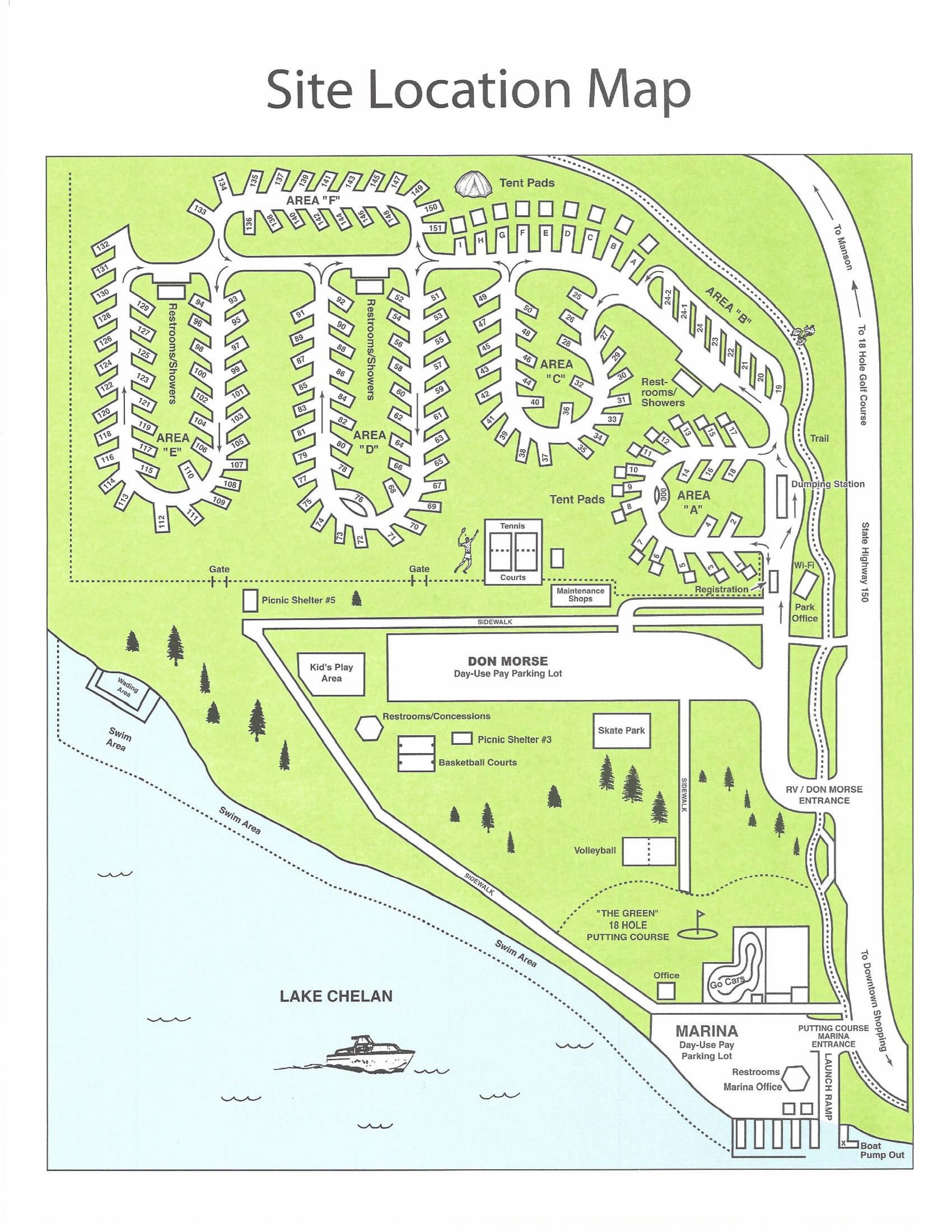Park Map - City of Chelan Chelan Washington Map on